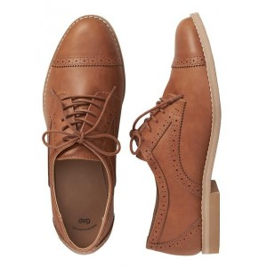 Perforated cap-toe oxfords