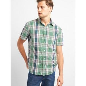 Madras plaid short sleeve shirt