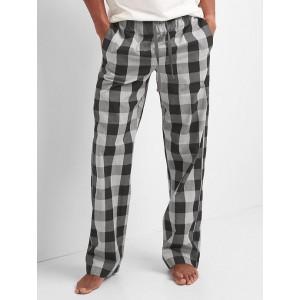 Plaid twill PJ pants
