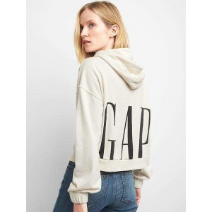 French terry crop hoodie