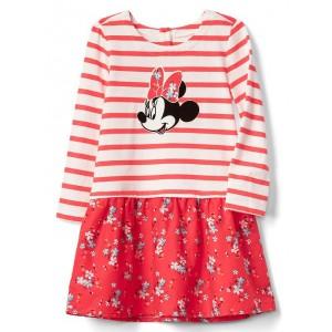 babyGap &#124 Disney Baby Minnie Mouse mix-fabric dress