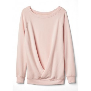 Maternity twist-front pullover