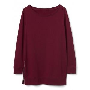 Maternity zip-side sweatshirt tunic