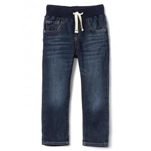 Stretch pull-on slim jeans