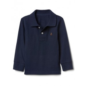 Solid long sleeve polo