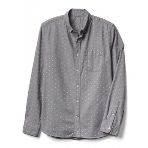 Oxford print slim fit shirt