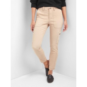 High rise skinny ankle utility chinos