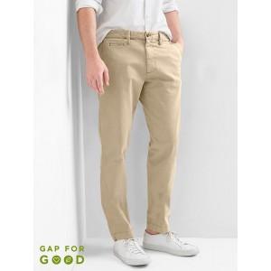Vintage wash slim fit khakis (stretch)