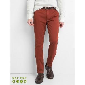 Vintage wash skinny fit khakis (stretch)