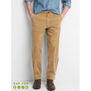 Vintage wash relaxed fit khakis (stretch)