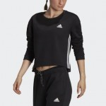 Primegreen Essentials Comfort Fleece Loose Cropped 3-Stripes Sweatshirt