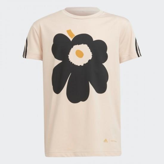 Marimekko Primegreen AEROREADY Training Loose 3-Stripes Floral Graphic Tee