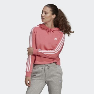 Essentials 3-Stripes Cropped Hoodie