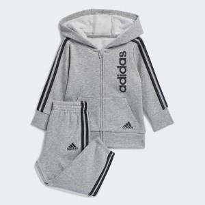 Linear Fleece Hooded Jacket Set