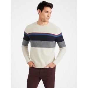 Italian Wool-Blend Stripe Sweater