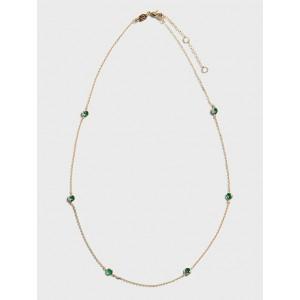 Emerald Bezel Set Necklace