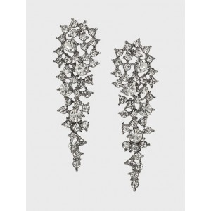 Stone Encrusted Drop Earrings