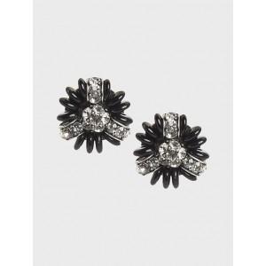 Mixed Cluster Stud Earrings