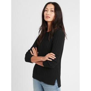 Petite Chunky Cable-Knit Sweater