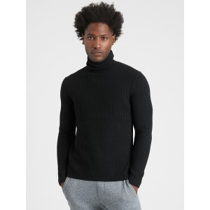 Italian Wool-Blend Turtleneck Sweater