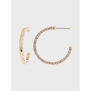 Pavé Detail Hoop Earrings