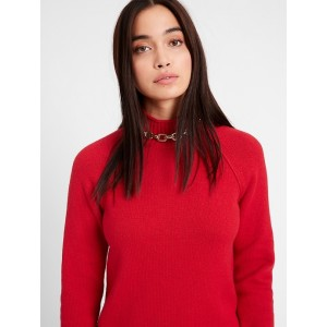 Petite Chunky Mock-Neck Sweater