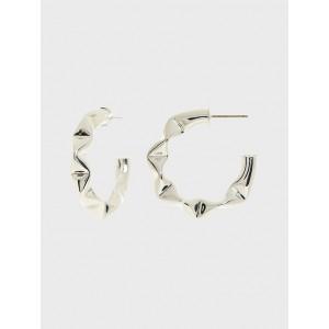 Twisted Medium Hoop Earrings