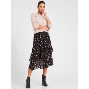 Petite Ruffle Midi Skirt