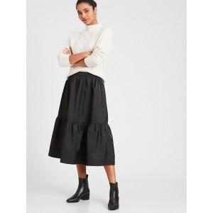 Volume Tier Midi Skirt