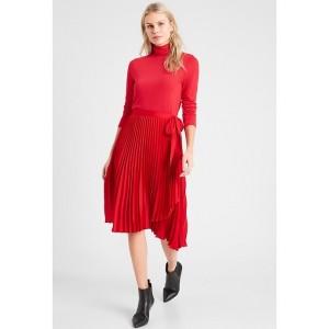 Petite Pleated Wrap Midi Skirt