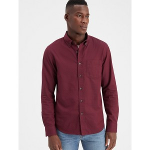 Slim-Fit Organic Cotton Untucked Oxford Shirt