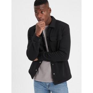 Marled Fleece Shirt Jacket