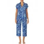 Short Dolman Sleeve Notch Collar Pajama Set