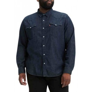 Big & Tall Long Sleeve Classic Western Button-Down Shirt
