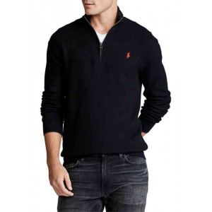 Big & Tall Cotton Quarter-Zip Sweater