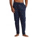 Knit Allover Print Pajama Pants