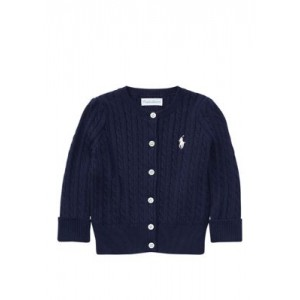 Baby Girls Cable-Knit Cotton Cardigan