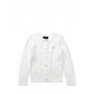 Cable-Knit Cotton Cardigan Toddler Girls