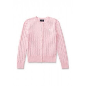 Cable-Knit Cotton Cardigan Girls 7-16