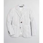Boys Seersucker Two-Button Multi-Stripe Suit Jacket