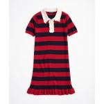 Girls Merino Wool Stripe Sweater Dress
