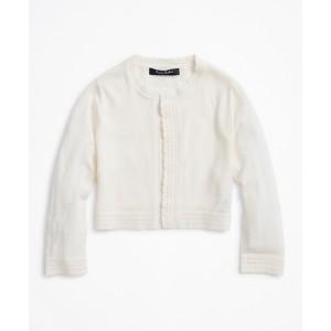 Girls Merino Wool Open Front Cardigan