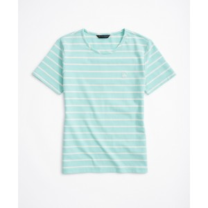 Striped Stretch Cotton Jersey T-Shirt