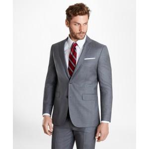 BrooksGate Milano-Fit Wool Twill Suit Jacket