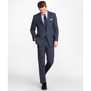 Regent Fit BrooksCool Subtle Plaid Suit