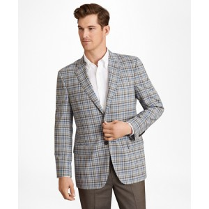 BrooksCool Madison Fit Plaid Sport Coat