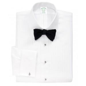 Milano Fit Ten-Pleat Tennis Collar Tuxedo Shirt