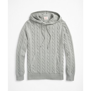 Cable-Knit Hoodie