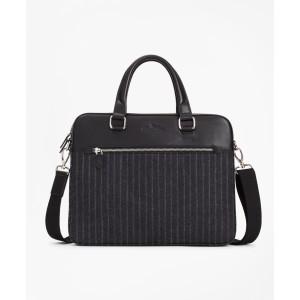 Wool Stripe Briefcase