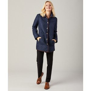 Water-Repellent Quilted Car Coat